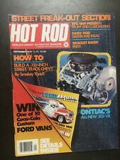 HOT ROD MAGAZINE September 1976 Pontiac Ford Chevrolet Monza Porsche Dodge