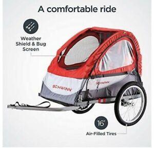 Schwinn Trailblazer Child Bike Trailer, Single Baby Carrier, Canopy,16-in.Wheels