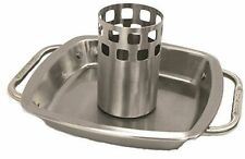 """Broil King Imperial Stainless Steel 9"""" x 9"""" Chicken Roaster With Pan 69133"""