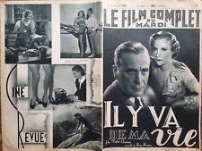 """LE FILM COMPLET 1937 N 1919 """" IL Y VA DE MA VIE """" Film TOBIS CINEMA - CARL DIEHL"""