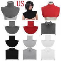 US Women Men Detachable Turtleneck Collar False Mock Half Top Blouse Neck Dickey