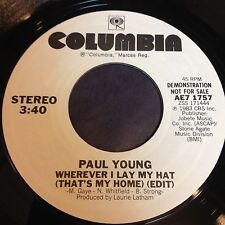 Paul Young: Wherever I Lay My Hat (That's My Home) 45