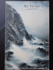 c1905 Tucks Fairlight Cliff Hastings by Moonlight 'SAPPHIRE ROUGH SEA' G Newton