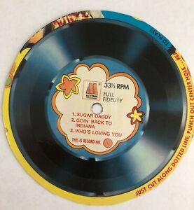 VINTAGE 1970s JACKSON 5 SUGAR DADDY POST CARDBOARD CEREAL BOX RECORD #1 MOTOWN
