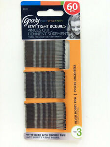 GOODY - Styling Essentials Bobby Pins Silver 2 Inches - 60 Count