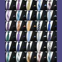 MEN'S PAISLEY FLORAL TIE & MATCHING POCKET SQUARE HANKY QUALITY PARTY EVENT SET