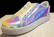Womens Holographic Sparkling Glitter Fashion Shoes-Sz. 8.5 New Other-Skater Shoe