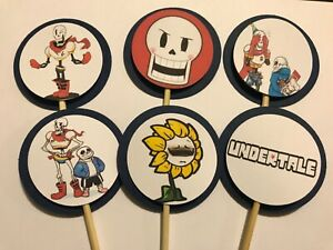 8 Undertales Sans CARDSTOCK BIRTHDAY PARTY CUPCAKE TOPPERS
