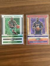 Lot 2x 2019-20 Contenders Optic Red Cracked Ice Shaquille Oneal / Kevin Garnett
