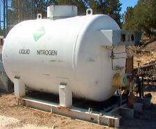 "500 gallon cryogenic Liquid Nitrogen tank w/gauges and plumbing 62"" diameter 5K#"