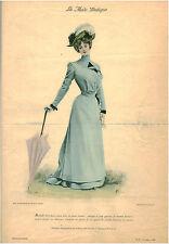 Publicité ancienne la mode pratique robe d'été pour jeune fille no 33 1899