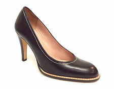 CLAUDIA CIUTI Size 5 Black Welted Round Toe Heels Pumps Shoes