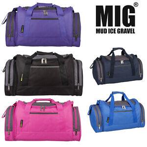 MIG Mens & Ladies Sports & Gym Holdall Bags TRAVEL SPORTS SCHOOL WORK LEISURE
