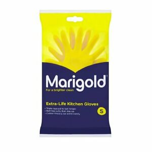 Marigold Yellow Kitchen Cleaning Gloves - Extra Life (Size S,M & L)