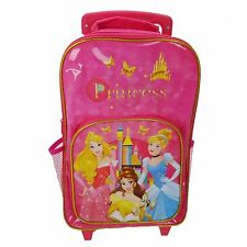 DISNEY PRINCESS PREMIUM WHEELED TROLLEY BAG TRAVEL HAND LUGGAGE GIRLS KIDS