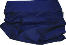 100% Pure Natural Silk Hand Loomed Fabric Selling per Yard Navy Blue-21