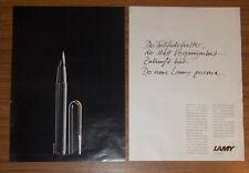 Seltene Werbung LAMY PERSONA Füllfederhalter 1990