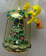 """Home for Holidays ornament Bradford 1999 tweety cage 68601 """"Star Bwight"""" 3rd"""