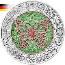 Microcosm Butterfly Bimetallic Niobium Silver Coin 25€ Austria 2017