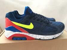 Nike Air Max 180 Blue Midnight Red Trainers Size 8.5 UK Mens. New Without Box