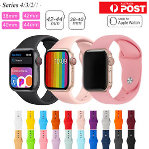 For Apple Watch iWatch Series 65432 Silicone Replacement Strap Band 38 40 42 44m