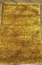 GOLD CUT CORD RUG 70cm x 120cm SOFT AND TEXTURED ELEGANT STYLISH LIVING HOME