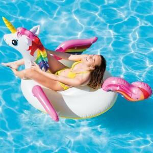Matelas  Fauteuil  Grande Bouée de piscine Licorne Relaxant INTEX  201x140x97 cm