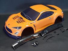 "RC CAR KAROSSERIE 1:10 ""TOYOTA GT 86"" IN PURPLE ORANGE 190MM BREIT # JLR16P"