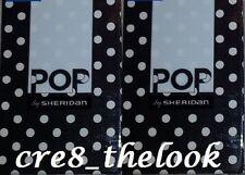 SHERIDAN POP HARU BLACK STANDARD PILLOWCASES FULLY REVERSIBLE BRAND NEW