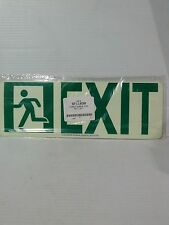 "Lawson/Glo-Brite 4-1/2""x13""  Photoluminescent Exit Sign (LS046-2)"