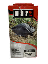 Weber 7111 Grill Cover Fits Q200 & 2000 Series Gas Grills Genuine OEM Sealed blk