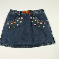 Gymboree Girls Denim Jean Button Skirt/Skort 4 Cute As Button