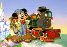 LE Disney Pin✿Magical World Transportation Pursuit Railroad Conductor Mickey HTF
