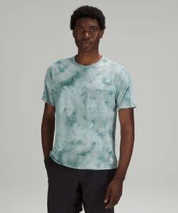 Lululemon Men's Relaxed Mesh Pocketed Short Sleeve Shirt Large Teal