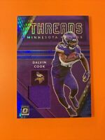 2020 Donruss Optic Football Dalvin Cook Threads Hyper Blue Prizm #DT-DC Vikings