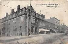 B90/ Cambridge Ohio Postcard c1910 Berwick Hotel East Stores Main Street