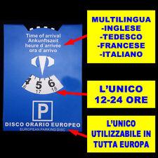 Disco Orario Parcheggio Sosta Posteggio Arrivo Orario Accessori Auto 12 - 24 dk