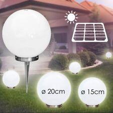 Luci Solare Sfere luminose 15 & 20 cm LED Esterno Lampade Crepuscolare Bianco