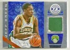 Jeff Green 2013-14 Totally Certified BLUE Throwback 2 color GU Patch #'d 7/10