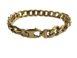 9ct Solid Gold Hallmarked Flat Cuban Curb Link Bracelet Heavy 47g