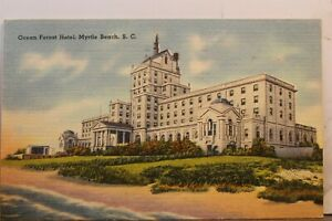 South Carolina SC Myrtle Beach Ocean Forest Hotel Postcard Old Vintage Card View