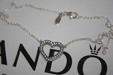 Pandora Silver Loving Hearts of PANDORA Necklace 590534CZ-45 size-45cm