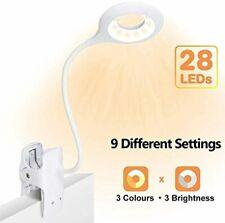 Luz de lectura con clip, luz de libro LED 28 Eye Protect, luz de lectura de cama