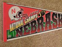 1994 Nebraska Huskers NCAA Football National Champs Full Size 30 Inch Pennant