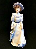 Figurine Home Interiors 1998  Penelope Lady Figurine with Parasol #1491
