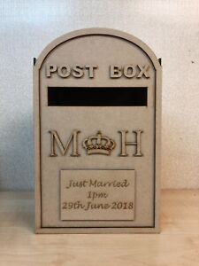 PERSONALISED Wedding postbox mdf wedding card post box
