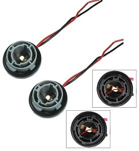 Universal Pigtail Wire Female Socket 1156 S Two Harness Rear Turn Signal Lamp