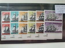 New Zealand 1975 Historic Sailing Ships set of 6 in vertical pairs, MNH
