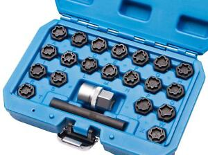 22 tlg Felgenschloss Radbolzen Knacker Demontage Werkzeug geeignet für Audi