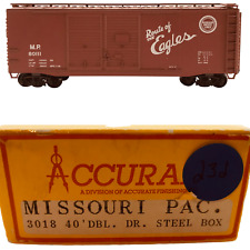 Accurail Ho Scale Model Train Brown 40' Dbl Dr Steel Box Missouri Pac. #3018
